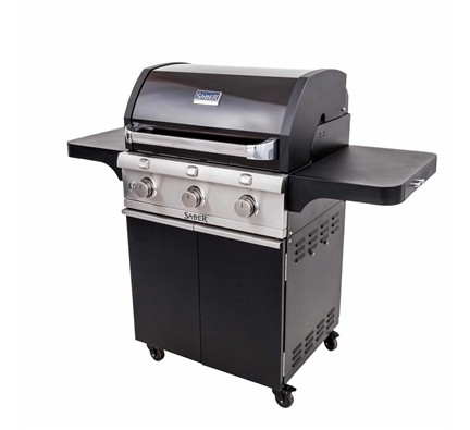 Deluxe Black Three Burner Gas Grill