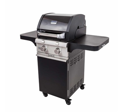 Deluxe Black Two Burner Gas Grill