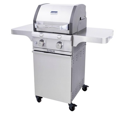 Deluxe Stainless Two Burner Gas Grill