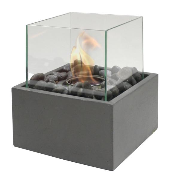 PARAMOUNT TABLETOP CONCRETE FIRE COLUMN, SQUARE