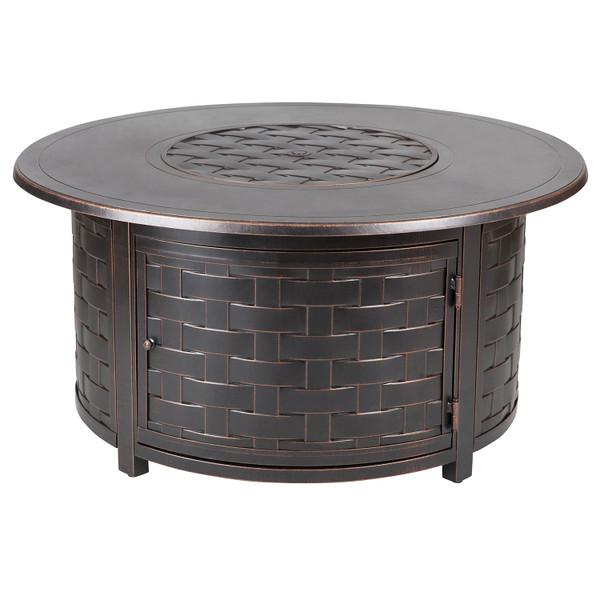 PARAMOUNT ZACH CONVERTIBLE ALUMINUM CONVERTIBLE FIRE TABLE ROUND
