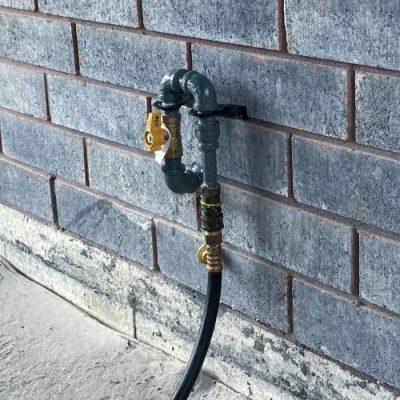 BBQ Gas Line Installation